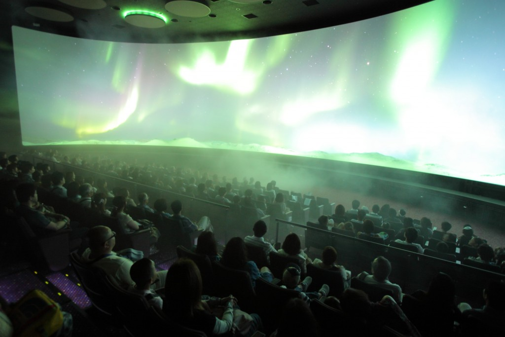 Multimedia theater at Orbi,  Yokohama.